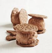 Gelato al cioccolato biscotti — Foto Stock