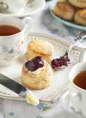 Tea time with scones — Stockfoto
