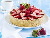 Cheesecake with strawberries — Stockfoto
