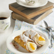 Sicilian cannoli with orange. Typical sicilian pastry — Stock Photo #49550751