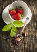 Strawberry Balsamico Herbal Tea — Stock Photo