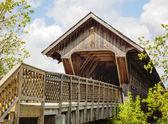 Guelph covered footbridge, Ontario, Canada — Foto Stock