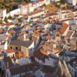 Panoramic photo overviewing the pueblo blanco Montejaque. Mountain village. Malaga. Andalusia. Spain. — Stock Photo