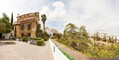 Beautiful panoramic photo of the house of the Moorish king. Casa del Rey Moro. Spanish city Ronda. Malaga. Andalusia. Spain. — Stock Photo