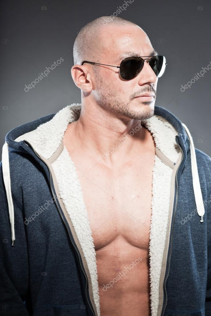 15 Year Boys Bedroom: Muscled Fitness Man. Cool Looking. Tough Guy. Brown Eyes
