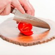 Cook cutting tomatoes. — Stock Photo #14607333