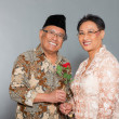 Senior indonesian couple in love. - Stock Photo
