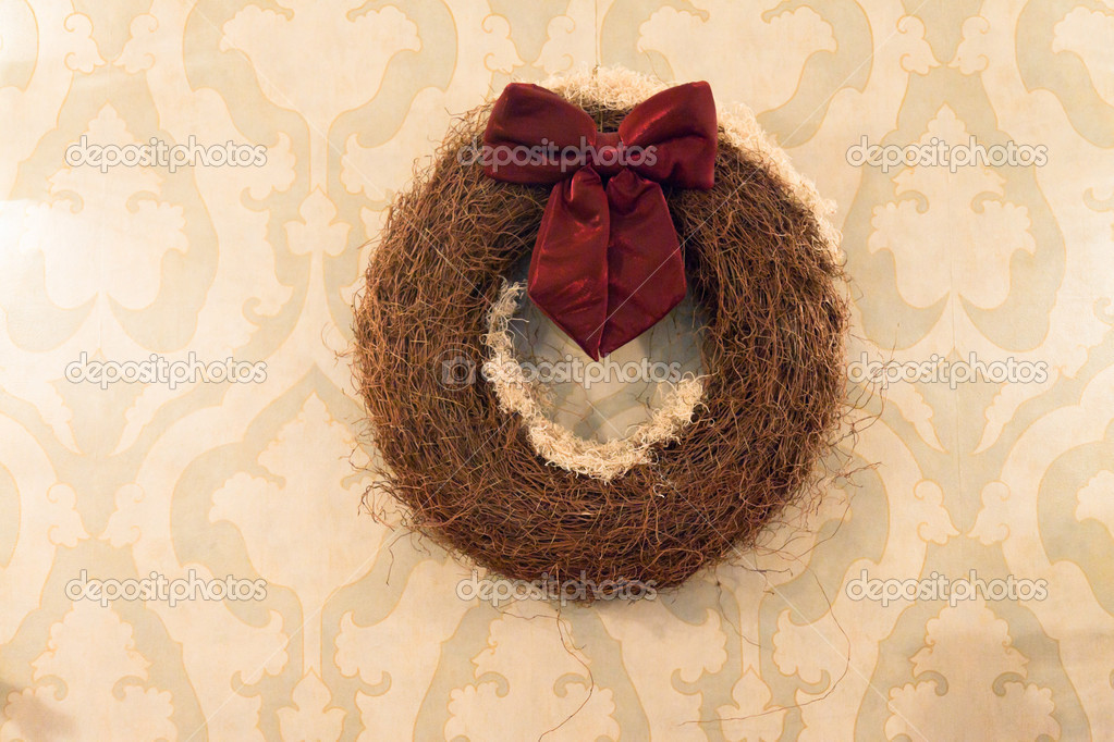 Christmas wreath interior decoration. — Stock Photo #18054161