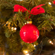 Red christmas decoration — ストック写真