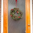 Christmas wreath. - Stock Photo