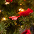 Foto Stock: Red christmas decoration