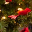 červená Vánoční dekorace — Stock fotografie