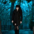 Gothic girl at cemetery. — Stock Photo #18603771