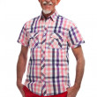 Studio portrait of active senior well dressed retired man. - Stock Photo