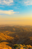 Mountains of Mojave desert at sunset. USA. California. — Stock Photo