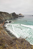 Coast of Big Sur with cloudy sky. USA. California. — Stock Photo