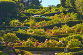 Lombard street with cars in San Francisco. — Stock Photo