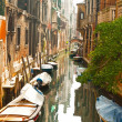Colorful canal of Venice. Italy. — Stock Photo