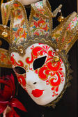Colorful traditional venetian mask at souvenir shop. Venice. Ita — Stock Photo