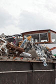 Container ship filled with scrap. — Stock Photo