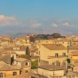 Panoramic shot of Corfu city with blue cloudy sky. Sen from abov — Stock Photo #32665271