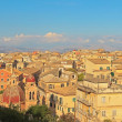 Panoramic shot of Corfu city with blue cloudy sky. Sen from abov — Stock Photo #32665575