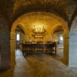 Interior cellar of castle Lavaux-Sainte-Anne. Rochefort. Ard — Stock Photo #35745769