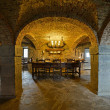 Interior cellar of the castle Lavaux-Sainte-Anne. Rochefort. Ard — Stock Photo