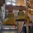 Big cathedral bells. Interior of Sint Rombout church tower. Mech — Stock Photo