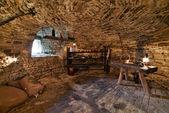 Interieur kelder van het kasteel van lavaux-sainte-anne. Rochefort. Ard — Stockfoto