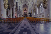 Interior of the Sint Rombout church. Mechelen. Belgium. — Stock Photo