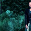 Asian business fashion man in jungle with green ferns and palm t — Stock Photo #51371217