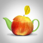 Apple thee — Stockfoto