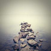 Paesaggio nebbioso minimalista. ucraina. — Foto Stock