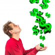 Conceptual money rain — Stock Photo