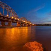 Railway Bridge. Ukraine. Kiev. — Stock Photo