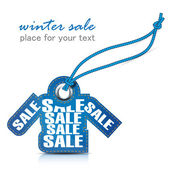 Winter sale tag — Stock Photo