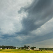 Landscape with storm clouds — Stock Photo