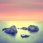 Minimalist Seascape. Coastal Sunrise. — Stock Photo
