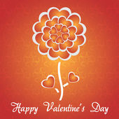 Happy Valentine's Day Background Vector Illustration — Stock Vector