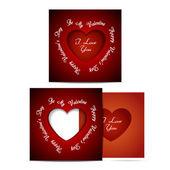 San valentino cartolina creativo — Vettoriale Stock