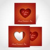 Valentines Day creative greeting card — Stock Vector