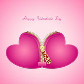 Valentines Day creative greeting card with hearts — Stock Vector