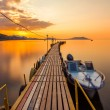 Stock Photo: Golden sunset on the sea