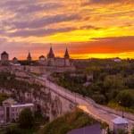 Evening City. Historic District Kamyanets-Podolsky City. Ukraine — Stock Photo #41792869