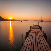 Amazing sunrise over the sea — Stock Photo