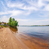View of Dnieper river in Kiev, Ukraine — Stock Photo