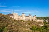 View of medieval half-ruined castle in Kamenetz-Podolsk, Ukraine — Stock Photo