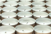 Many extinct candles with shallow depth of field — Stock Photo