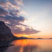 Minimalist Seascape. Coastal Sunrise. — Stock Photo